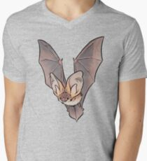 Grey long-eared bat Mens V-Neck T-Shirt