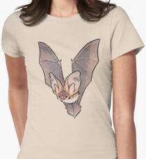 Grey long-eared bat Womens Fitted T-Shirt