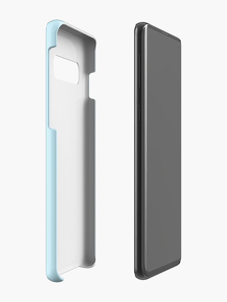 """Vista alternativa de Funda y vinilo para Samsung Galaxy Cita de Alicia en el país de las maravillas """"Solo media taza, si no te importa"""""""