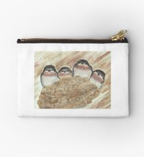 Barn Swallow Chicks Studio Pouch