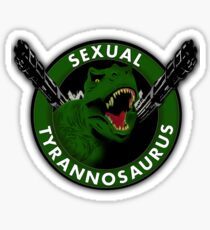 Sexual Tyrannosaurus Sticker