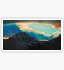 Snowdon view Sticker