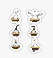 Six Geese-a-Laying Sticker