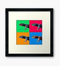 Warhol Gecko Framed Print