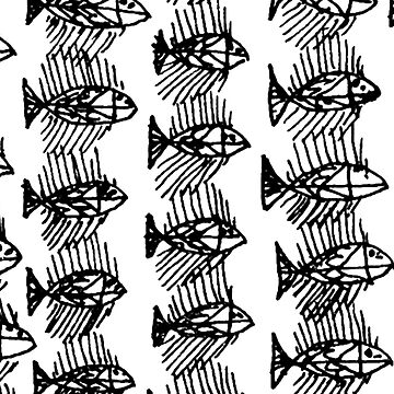 Black and White Abstract Fish Art Duvet Cover by ntartworks