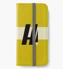 Hyperion Heldentum Gelb iPhone Flip-Case/Hülle/Skin