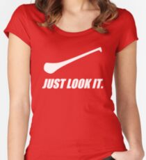 Hurling: Just Look It. Women's Fitted Scoop T-Shirt