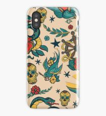 Punk Tattoo Pattern Design and Illustration iPhone Case