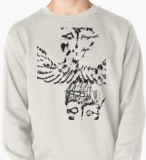 Black & White Abstract Angels Pullover