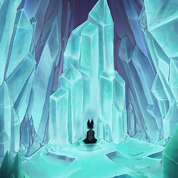 Frozen Calm of Crystal Caverns by whiteicepanther