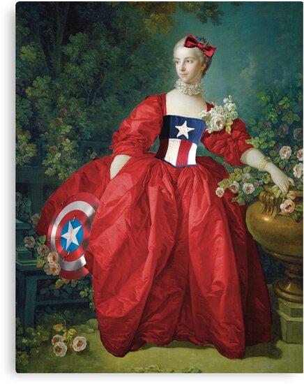 Lady Captain America, 18th Century Style by costumewrangler