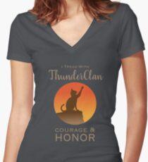 ThunderClan Pride Women's Fitted V-Neck T-Shirt