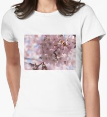 Pink Spring - A Cloud of Delicate Cherry Blossoms Womens Fitted T-Shirt