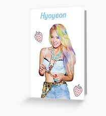 ♥ Hyoyeon ♥ Greeting Card