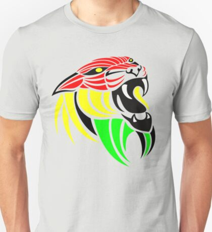 Lion Reggae Flag Colors T-Shirt
