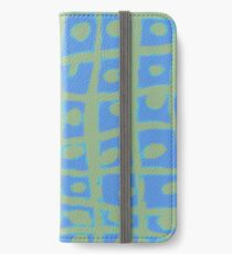 Modern Blue and Green Square Print iPhone 6 Case iPhone Wallet/Case/Skin