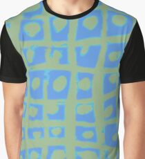 Modern Blue and Green Square Print iPhone 6 Case Graphic T-Shirt