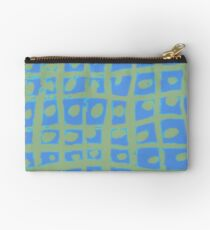 Modern Blue and Green Square Print iPhone 6 Case Studio Pouch