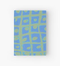 Modern Blue and Green Square Print iPhone 6 Case Hardcover Journal