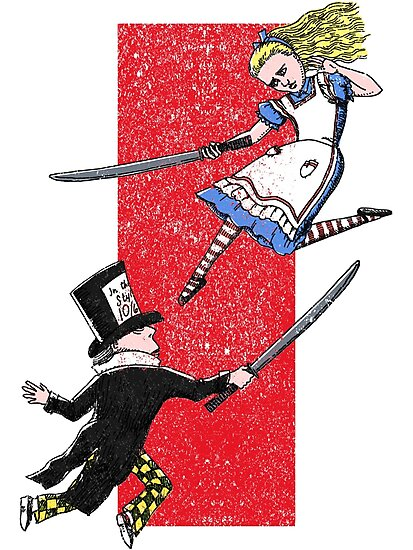 Alice vs. The Mad Hatter by SusanSanford