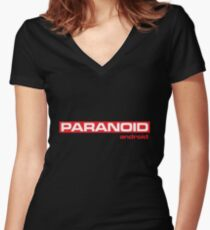 Paranoid Women's Fitted V-Neck T-Shirt