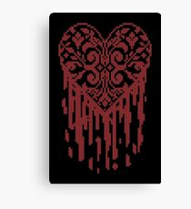 Bleeding Tiled Heart Canvas Print