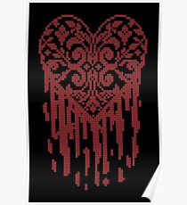 Bleeding Tiled Heart Poster