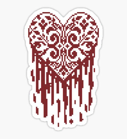 Bleeding Tiled Heart Sticker