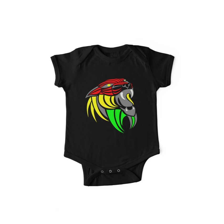Reggae music cool lion reggae colors t shirts and stickers