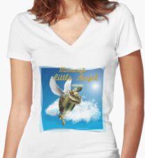 Tortoise - Mommy's Little Angel Women's Fitted V-Neck T-Shirt