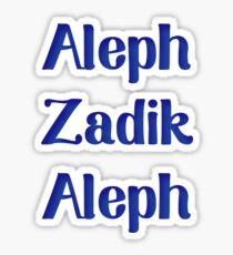 aleph zadik aleph Sticker
