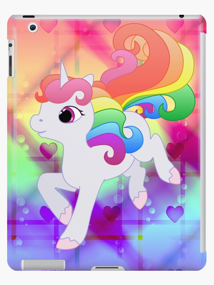 Cute Baby Rainbow Unicorn By LyddieDoodles