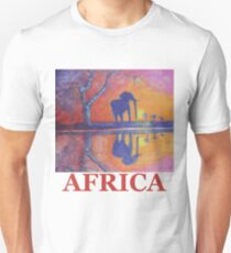 African Landscape with Elephant Unisex T-Shirt