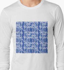 Bamboo Rainfall in China Blue/Seashell White Long Sleeve T-Shirt