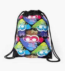 Splatoon Squid Pattern Drawstring Bag