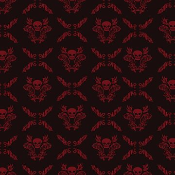 Skull Pattern (vector) by luisapizza