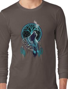 Wolf Indian Shaman Long Sleeve T-Shirt