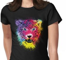 Tiger - Colorful Paint Splatters Dubs Womens Fitted T-Shirt