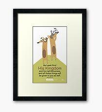 Matthew 6:33 Framed Print