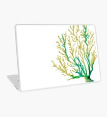 Aqua und Goldkoralle Laptop Skin