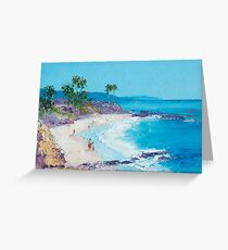Laguna Beach oil painting Greeting Card