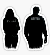 A Writer & His Muse Sticker