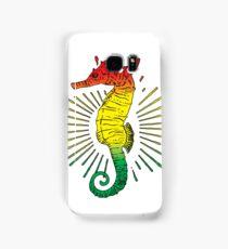 Seahorse with Reggae Music Flag Colors! Samsung Galaxy Case/Skin
