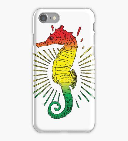 Seahorse with Reggae Music Flag Colors! iPhone Case/Skin