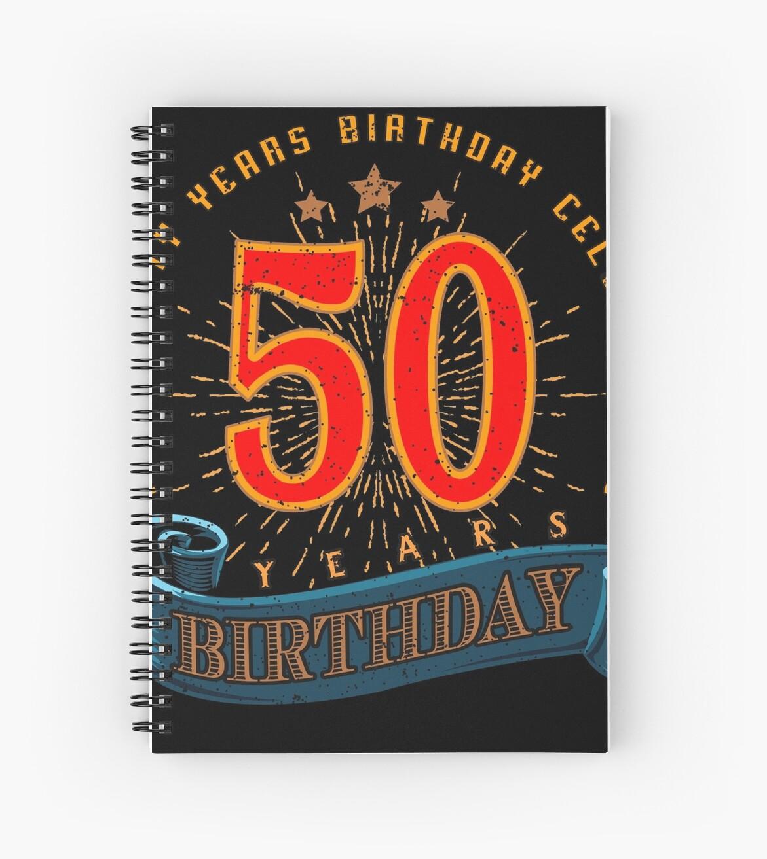 Cuadernos de espiral «50a feliz cumpleaños» de rahmenlos | Redbubble