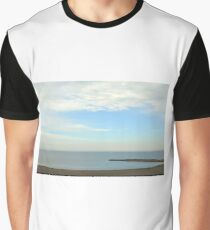 Beautiful day at the beach with white cloudy sky. Graphic T-Shirt