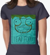 I EAT FOOD (Invader Zim) Womens Fitted T-Shirt