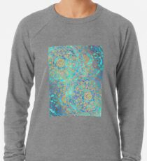 Sapphire & Jade Stained Glass Mandalas Lightweight Sweatshirt