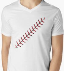 Baseball Lace Background 2 V-Neck T-Shirt