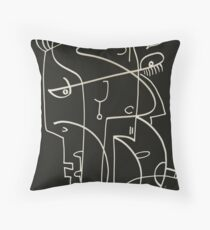 The black pearl earing           ( TB 27 ) Throw Pillow